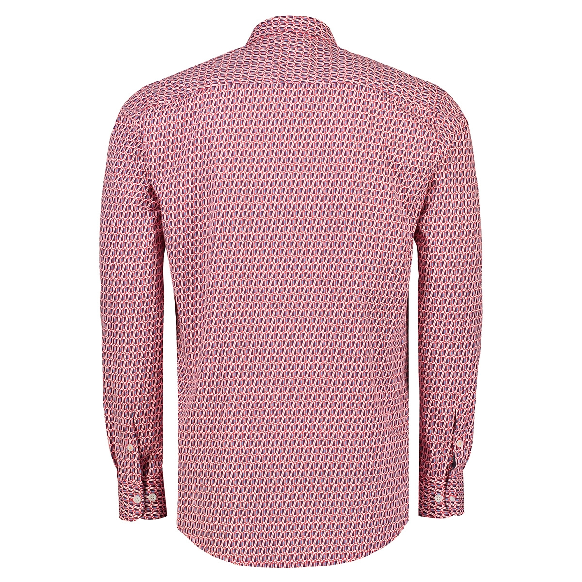 overhemd met karabijn haak print 29n1086 lerros overhemd 353
