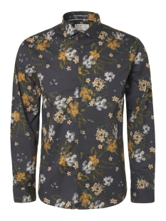 all over printed stretch shirt 94411102 no-excess overhemd 023 dk grey