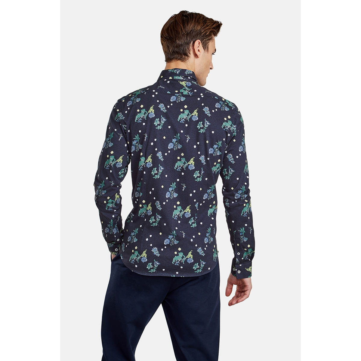 overhemd met bloemmotief 89n1116 new in town overhemd 494