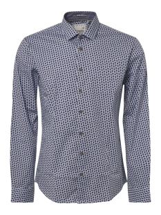 NO-EXCESS Overhemd ALL OVER PRINTED STRETCH SHIRT 92450760 166 Office Blue