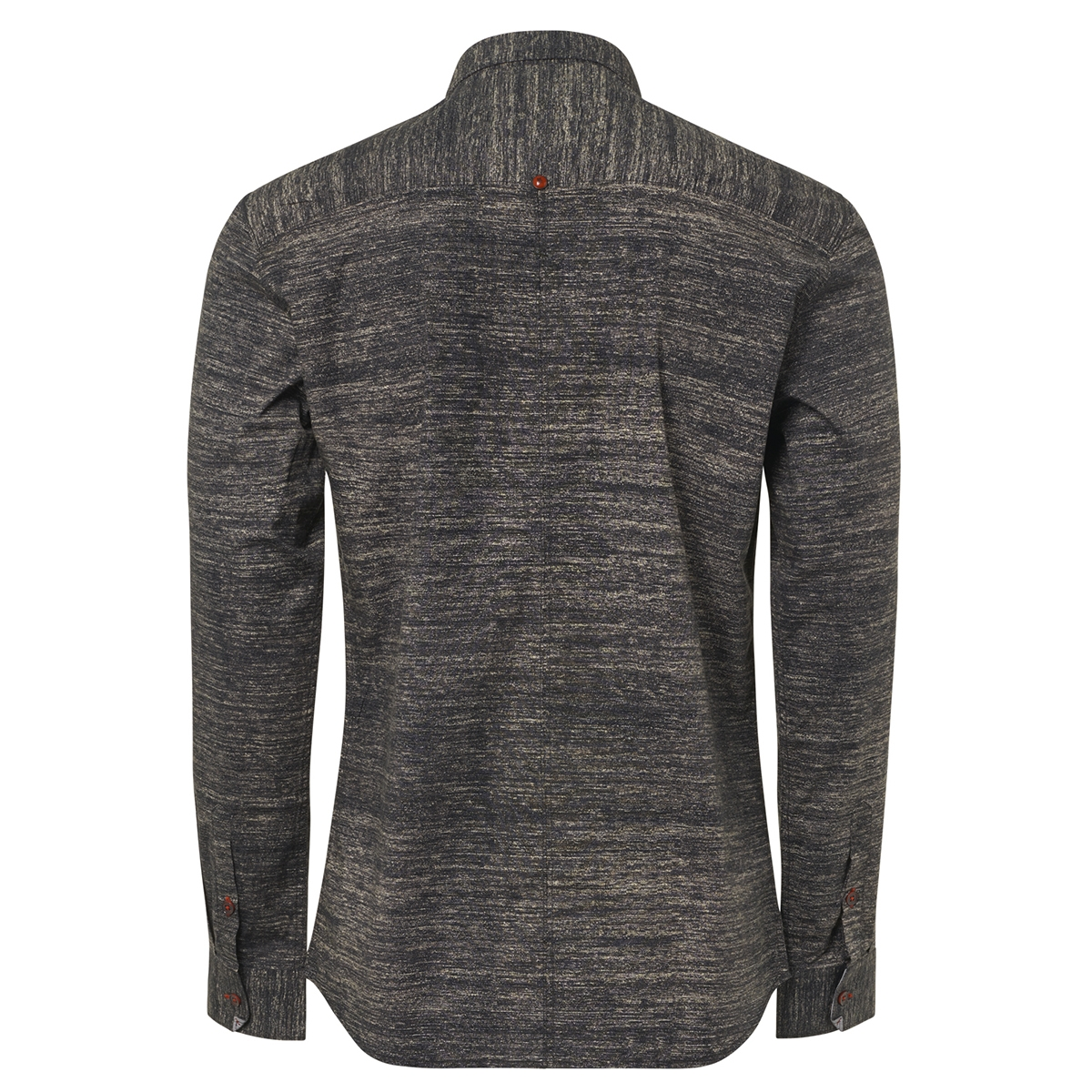 all over printed stretch shirt 92430907 no-excess overhemd 020 black