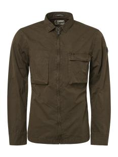 NO-EXCESS Overhemd FULL ZIP OVERSHIRT 92410812 059 Dk Army