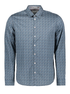 all over flower printed shirt 92480961 no-excess overhemd 132 shadow blue