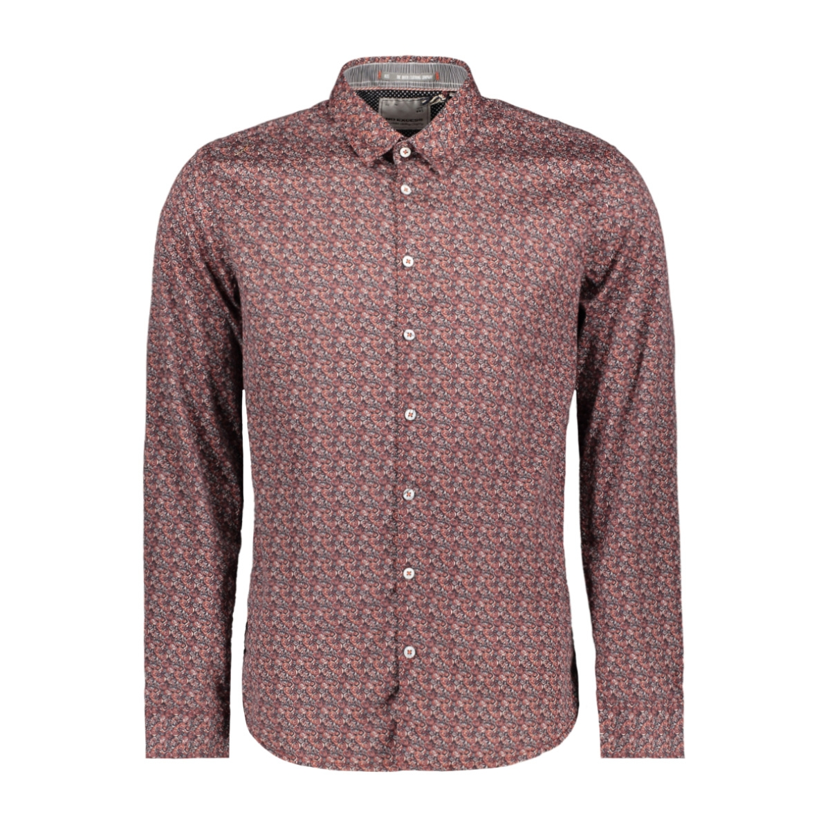 all over flower printed shirt 92480961 no-excess overhemd 160 brick