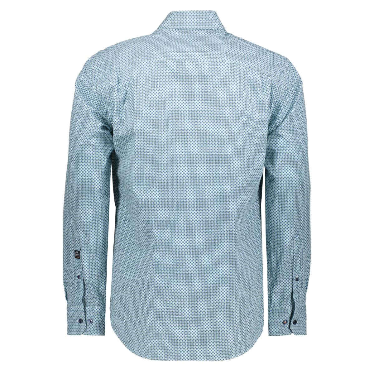 casual overhemd lm 052886 campbell overhemd 408 groen print