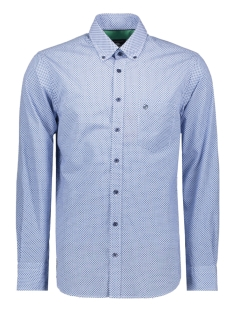 casual overhemd lm 052884 campbell overhemd 308 blauw print