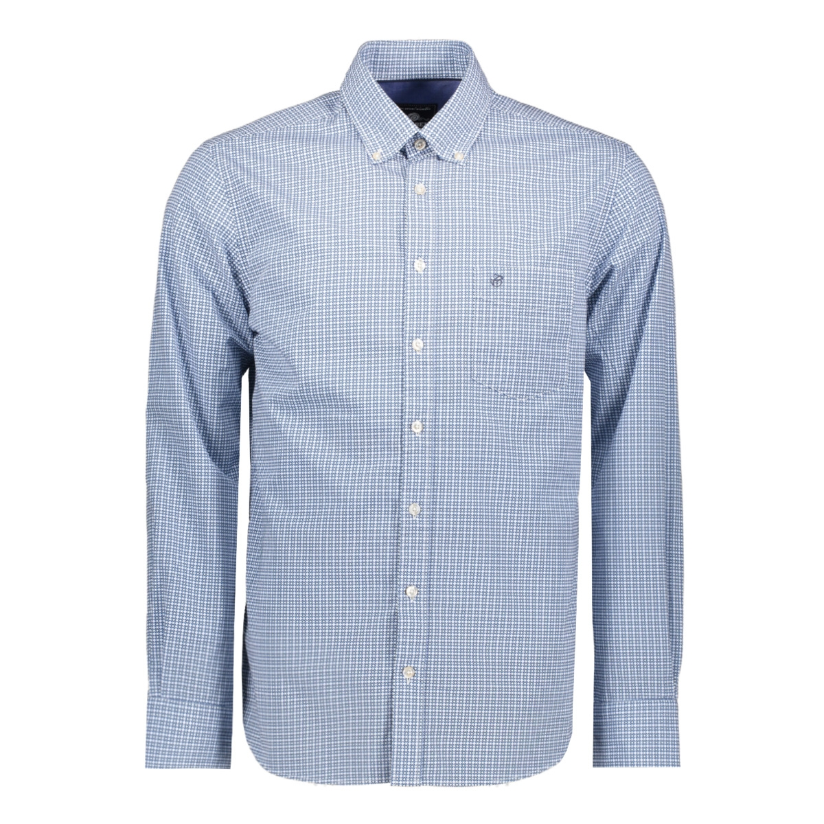 casual overhemd lm 052881 campbell overhemd 308 blauw print