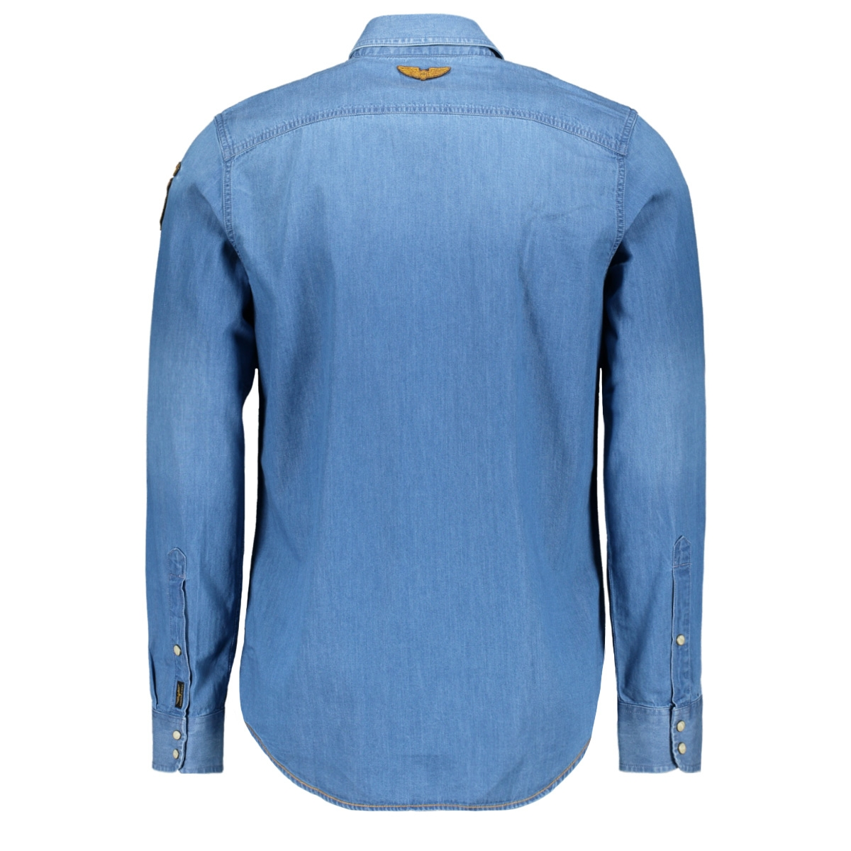 long sleeve denim shirt psi201232 pme legend overhemd 590