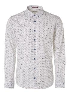 NO-EXCESS Overhemd ALL OVER PRINTED STRETCH SHIRT 95450203 136 Indigo Blue
