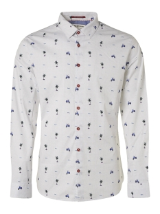 NO-EXCESS Overhemd ALL OVER PRINTED STRETCH SHIRT 95430203 135 Royal