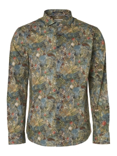 NO-EXCESS Overhemd ALL OVER PRINTED STRETCH SHIRT 95410218 123 Steel