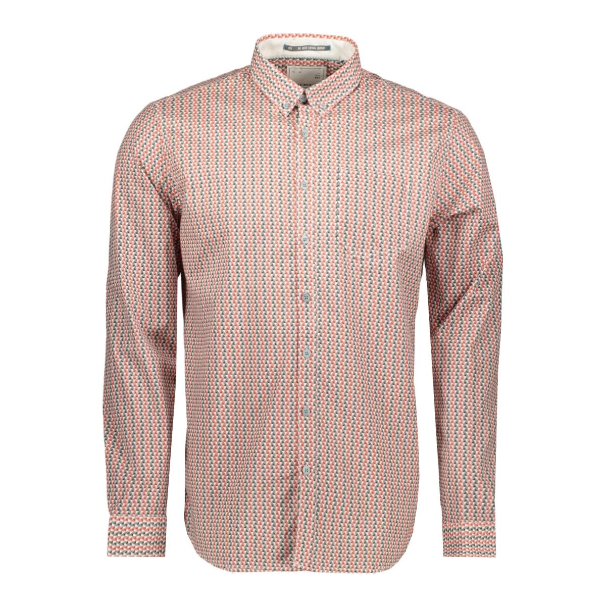 printed stretch shirt 90480165 no-excess overhemd 160 brick