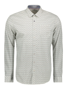 NO-EXCESS Overhemd PRINTED STRETCH SHIRT 92451262ST 010 WHITE