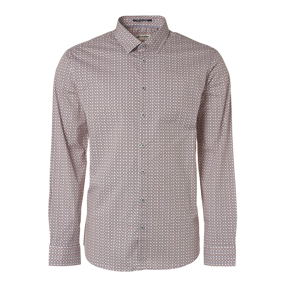 printed shirt 95410202 no-excess overhemd 162 cayenne