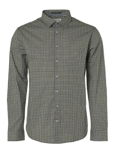 allover printed square shirt 95410202 no-excess overhemd 078 night
