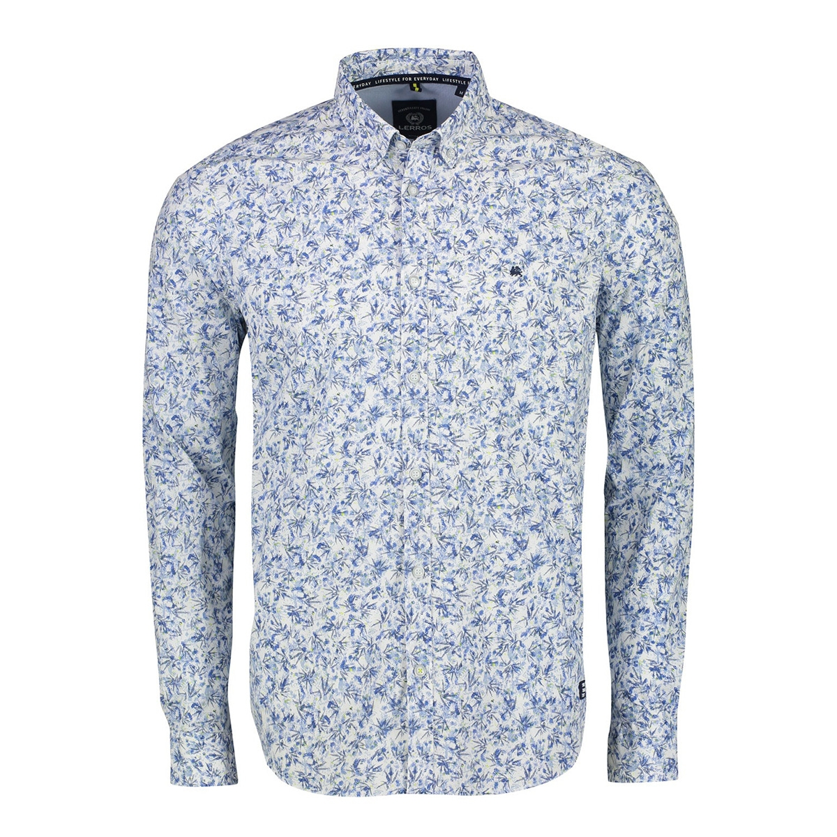 overhemd met print 2021133 lerros overhemd 440