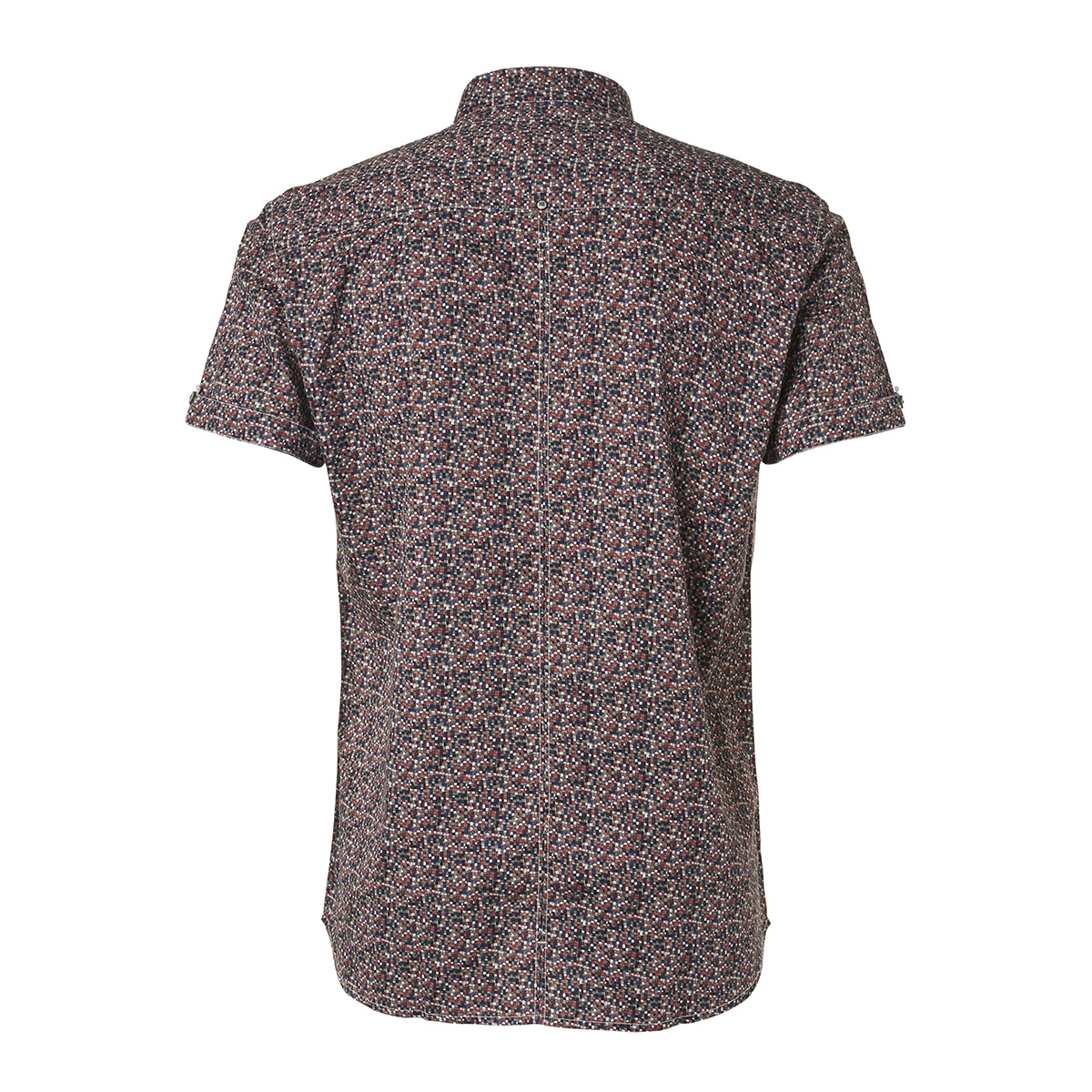 all over printed satin short sleeve shirt 95490205 no-excess overhemd 162 cayenne