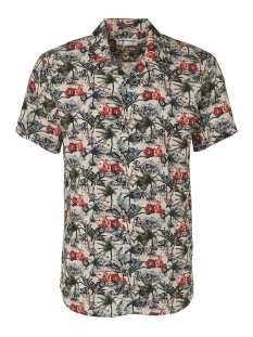 all over printed shirt 95420303 no-excess overhemd 162 cayenne