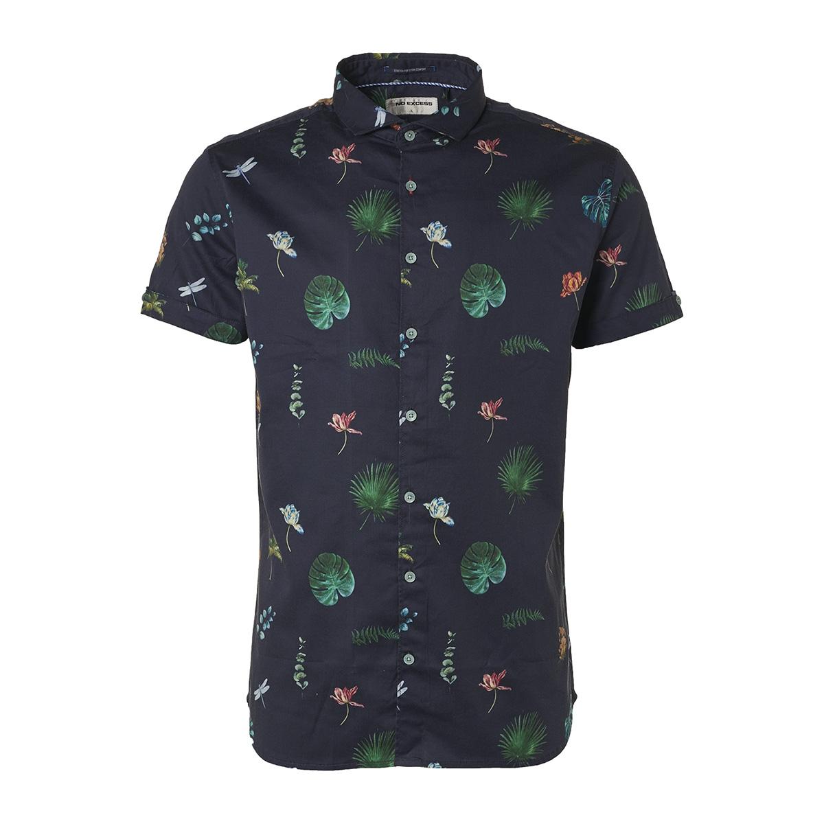 overhemd met korte mouwen 95490308 no-excess overhemd 078 night