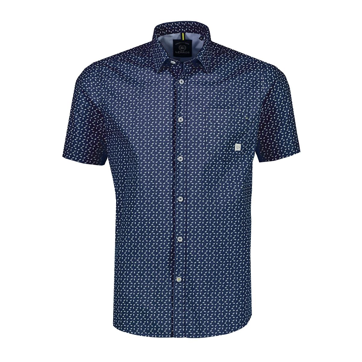 overhemd met all over print 2022035 lerros overhemd 474