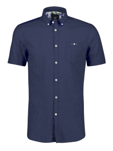 korte mouw overhemd in linnenmix 2042170 lerros overhemd 474