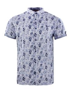 korte mouw hemd 33842 gabbiano overhemd navy