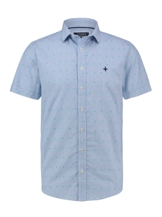 Haze & Finn Overhemd SHIRT AOP STRETCH MC13 0105 04 STRIPE FIESTA