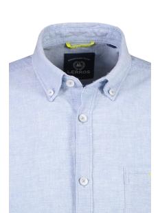 korte mouw overhemd in linnenmix 2042170 lerros overhemd 417