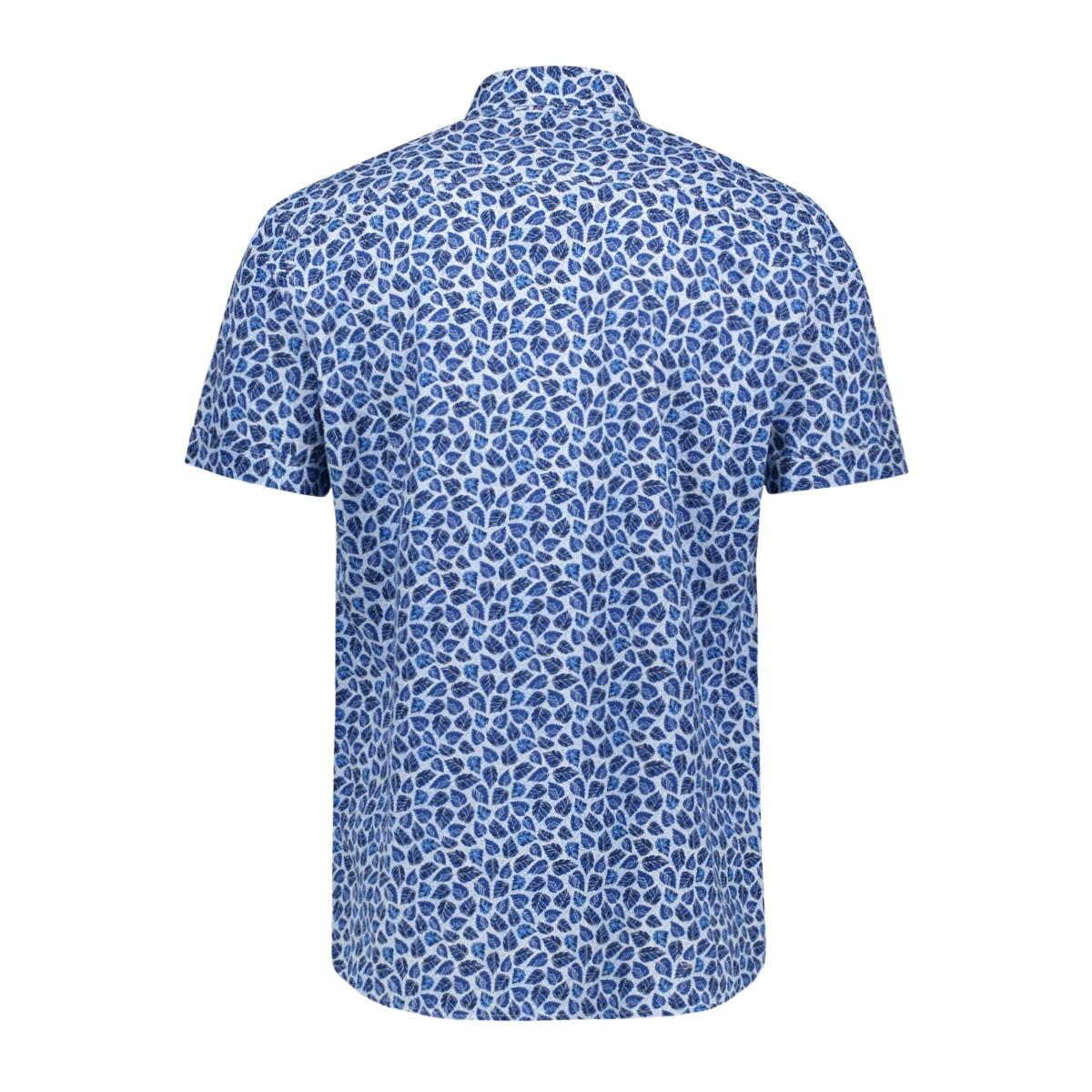 bedrukt overhemd 39023 2080 dnr overhemd 2031 blauw combi