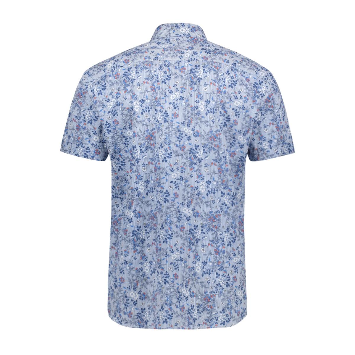 bedrukt overhemd 39024 2073 dnr overhemd 2030 blauw combi