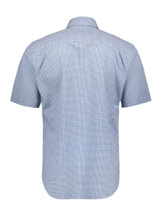 classic casual overhemd km  053428 campbell overhemd 308 blauw print