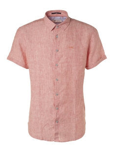 NO-EXCESS Overhemd LINEN SLEEVE SHIRT 95460307 172 PEACH