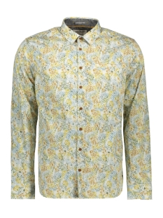 NO-EXCESS Overhemd ALL OVER PRINTED LONG SLEEVE SHIRT 97430702SN 073 GOLD