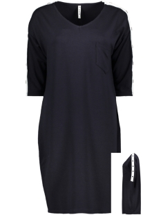 sporty tunic button hr1921 zoso jurk navy offwhite