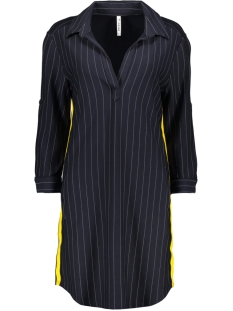 Zoso Jurk PINSTRIPE TUNIC NAVY/YELLOW