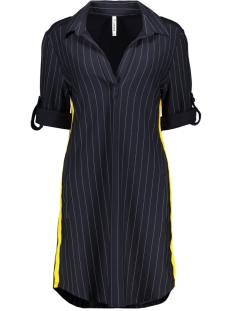 pinstripe tunic zoso jurk navy/yellow
