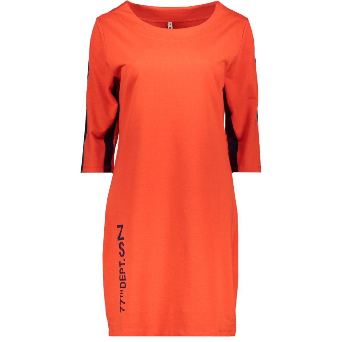 sporty tunic sr1925 zoso jurk orange red/navy