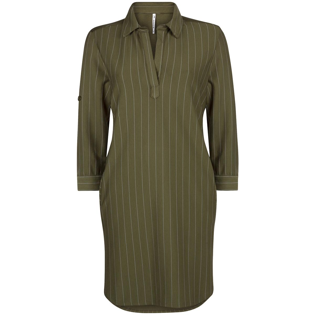 pinstripe tunic hr1925 zoso jurk army/offwhite