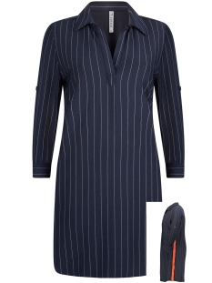 Zoso Jurk PINSTRIPE TUNIC HR1925 NAVY/ORANGE