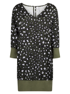 printed woven tunic ay1901 zoso jurk army/navy