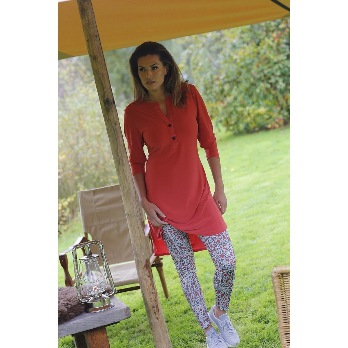 esra travel tunic buttons 201 zoso jurk 0072 desert red