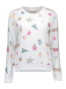 nmtwist l/s sweat x 10162647 noisy may sweater bright white/candy