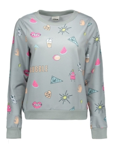 nmtwist l/s sweat x 10162647 noisy may sweater light grey mela/candy