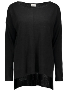 nmchen l/s boatneck knit top - n 10160941 noisy may trui black