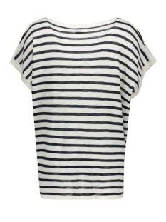 vistarly stripe s/s knit top 14035483 vila t-shirt total eclipse