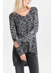 jdywow l/s high low long pullover k 15120362 jacqueline de yong trui black/mixed w gr