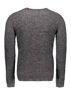 onssam melange crew neck knit 22003742 only & sons trui black