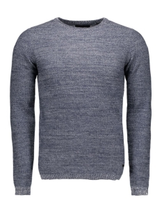 onssam melange crew neck knit 22003742 only & sons trui dress blues
