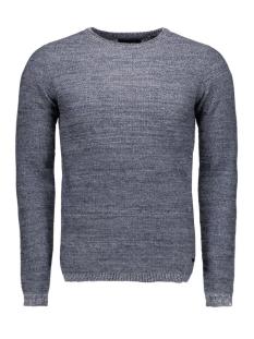 onssam melange crew neck knit 22003742 only & sons trui dress blues