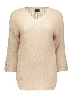 vivera knit top pb 14035487 vila trui shifting sand/with gold